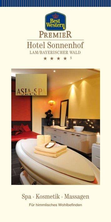 Spa · Kosmetik · Massagen - BEST WESTERN PREMIER Hotel ...