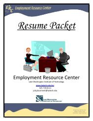 What is a Resume - Lake Washington Institute of Technology
