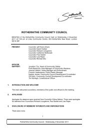ROTHERHITHE COMMUNITY COUNCIL - Meetings, agendas, and ...
