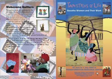 Mabeoana Quilters - the Transformation Resource Centre