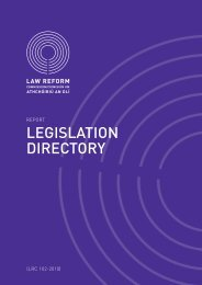 Report on the Legislation Directory - Law Reform Commission
