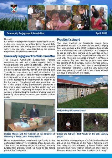 Community Engagement Newsletter April 2011
