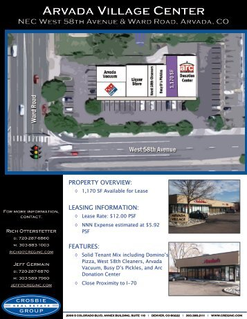 ARVADA VILLAGE CENTER - Crosbie Real Estate Group