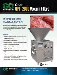 OPTI 2000 Vacuum Fillers