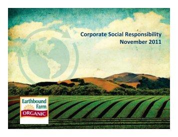 Corporate Social Responsibility November 2011