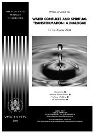 Conference booklet - Pontifical Academy of Sciences