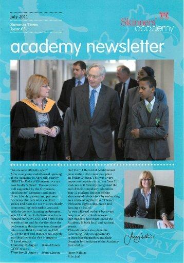 July 2011 - Skinners' Academy