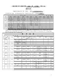 上海交通大学口腔医学院2006 级七年制大班教学日历