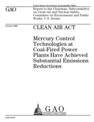 Mercury Control Technologies at Coal-Fired Power Plants Have ...