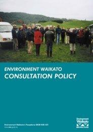 wise consultation - Waikato Regional Council
