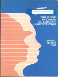 1993 - Philippine Overseas Employment Administration