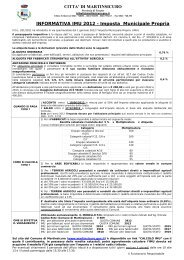 INFORMATIVA IMU 2012 - Imposta Municipale Propria CITTA' DI ...