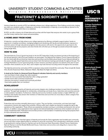 fraternity & sorority life - University Student Commons and Activities ...