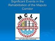Maputo Development Corridor Timeline - MCLI