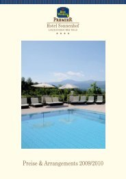 Arrangements BW Premier Hotel Sonnenhof Lam - Best Western ...