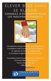 Conseils d'économie pour les nouveaux parents!