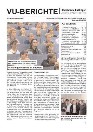 VU-BERICHTE - Hochschule Esslingen