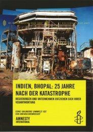 Indien, Bhopal: 25 Jahre nach der Katastrophe. Regierungen und ...
