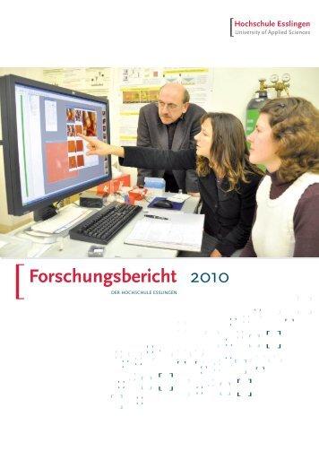 Forschungsbericht 2010 - Hochschule Esslingen