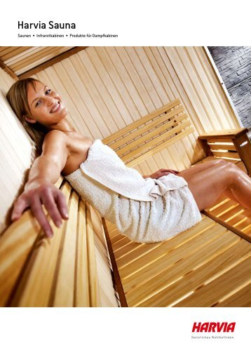 Prospekt von Harvia Sauna Kabinen - Wellness Extrem