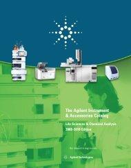 The Agilent Instrument & Accessories Catalog Life Sciences