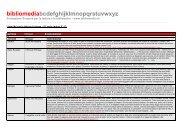 Scarica la lista con la descrizione dei contenuti - pdf - Bibliomedia