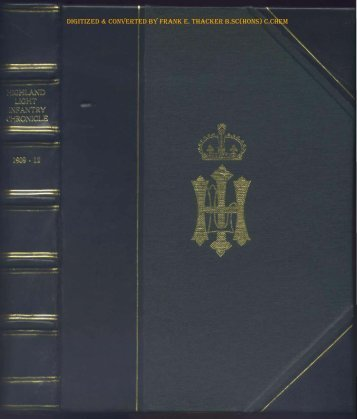 HLI Chronicle 1910 - The Royal Highland Fusiliers