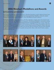 2006 Rinehart Medallions and Awards - UMKC School of Dentistry