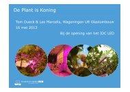De plant is koning - Wageningen UR