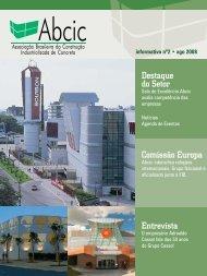 Destaque do Setor Entrevista Comissão Europa - ABCIC