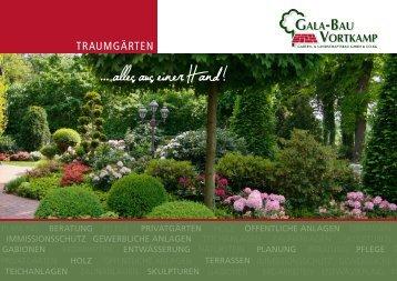 Broschüre Traumgärten ... alles aus einer Hand! - Galabau Vortkamp