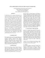 FPGA IMPLEMENTATION OF MD5 HASH ALGORITHM