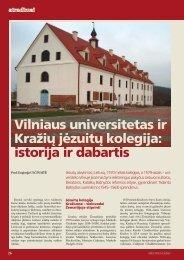 istorija ir dabartis - Vilniaus universitetas