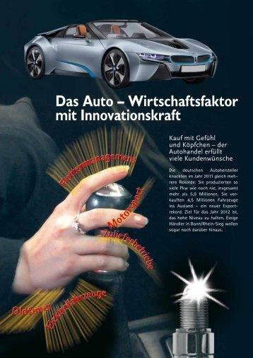 Das Auto – Wirtschaftsfaktor mit Innovationskraft - Industrie- und ...