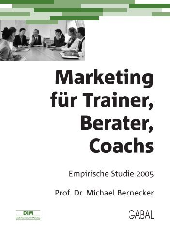 Trainer Studie - Deutsches Institut für Marketing