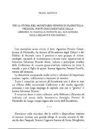 Saporita F. Per La storia del monetario Pennisi di Floristella ...