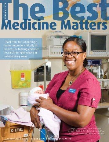 Best Medicine Matters Fall 2010 - Mount Sinai Hospital