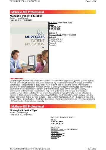 PDF: Medical - McGraw-Hill Australia