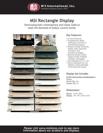 MSI Rectangle Display - MSI Stone