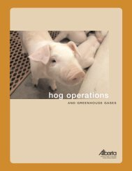 Alberta Agriculture Hog Operations - Agriculture and Rural ...
