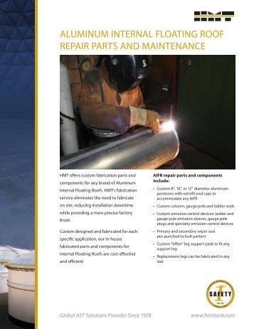 aluminum internal floating roof repair parts and maintenance - HMT