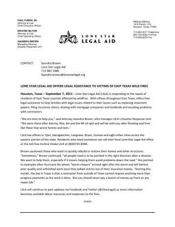 LONE STAR LEGAL AID OFFERS LEGAL ASSIST Houston, Texas ...