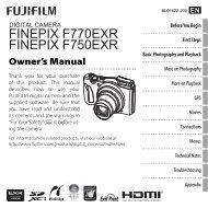 FINEPIX F770EXR FINEPIX F750EXR - Fujifilm