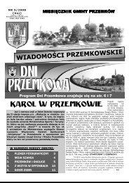 Wiadomości Przemkowskie numer 5/2008 - Przemków