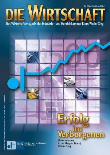 Das Wirtschaftsmagazin der Industrie- und Handelskammer Bonn ...