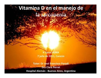 Vitamina D en el manejo de la sarcopenia