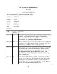 Answer keys to Midterm 1