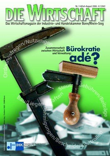 WIRTSCHAFT Juli/August 2006 - Industrie- und Handelskammer ...