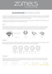 DIAMOND BUYERS GUIDE - Zamel's