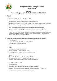 préparation congrès Bx 2010 - Union des oenologues de France